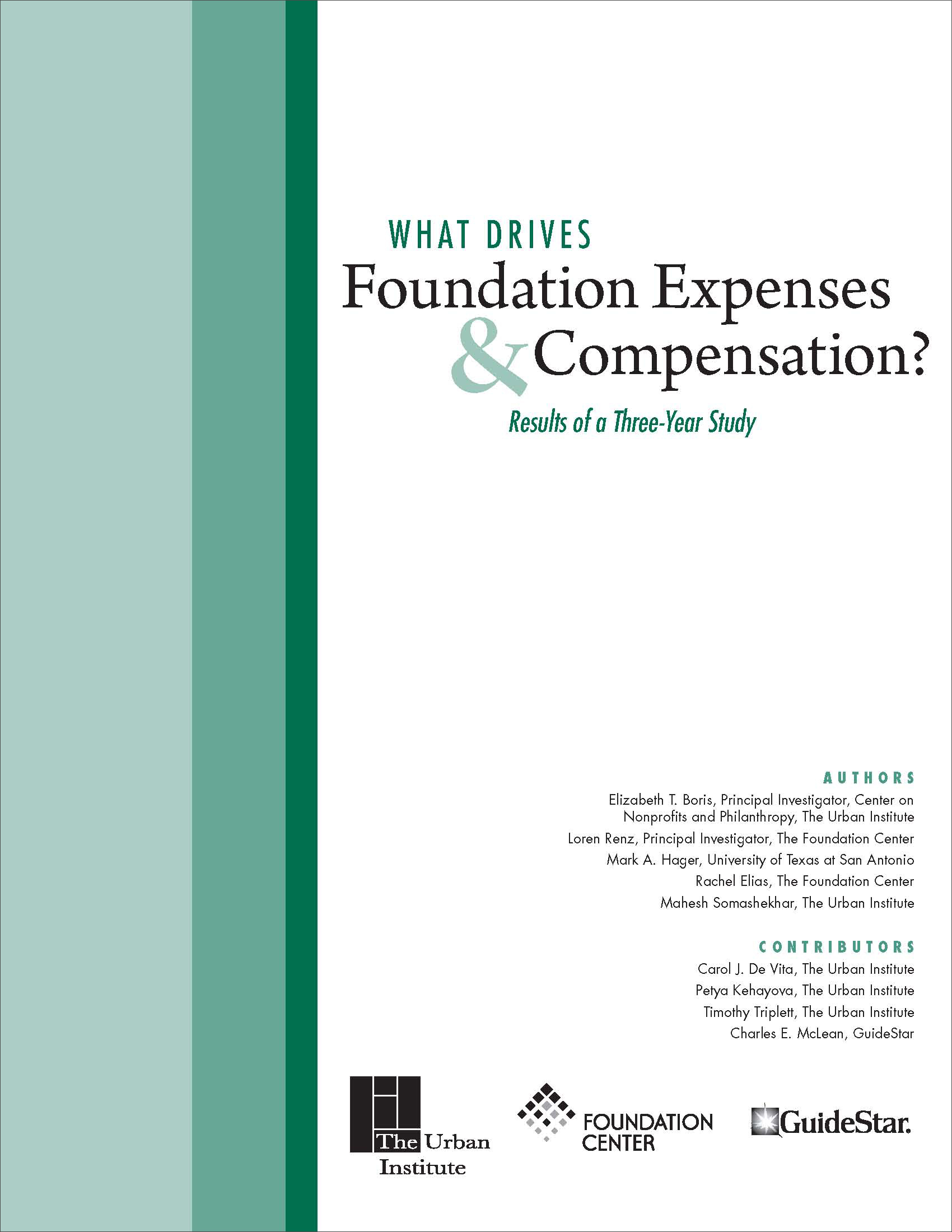 Foundation Expenses and Compensation Cover