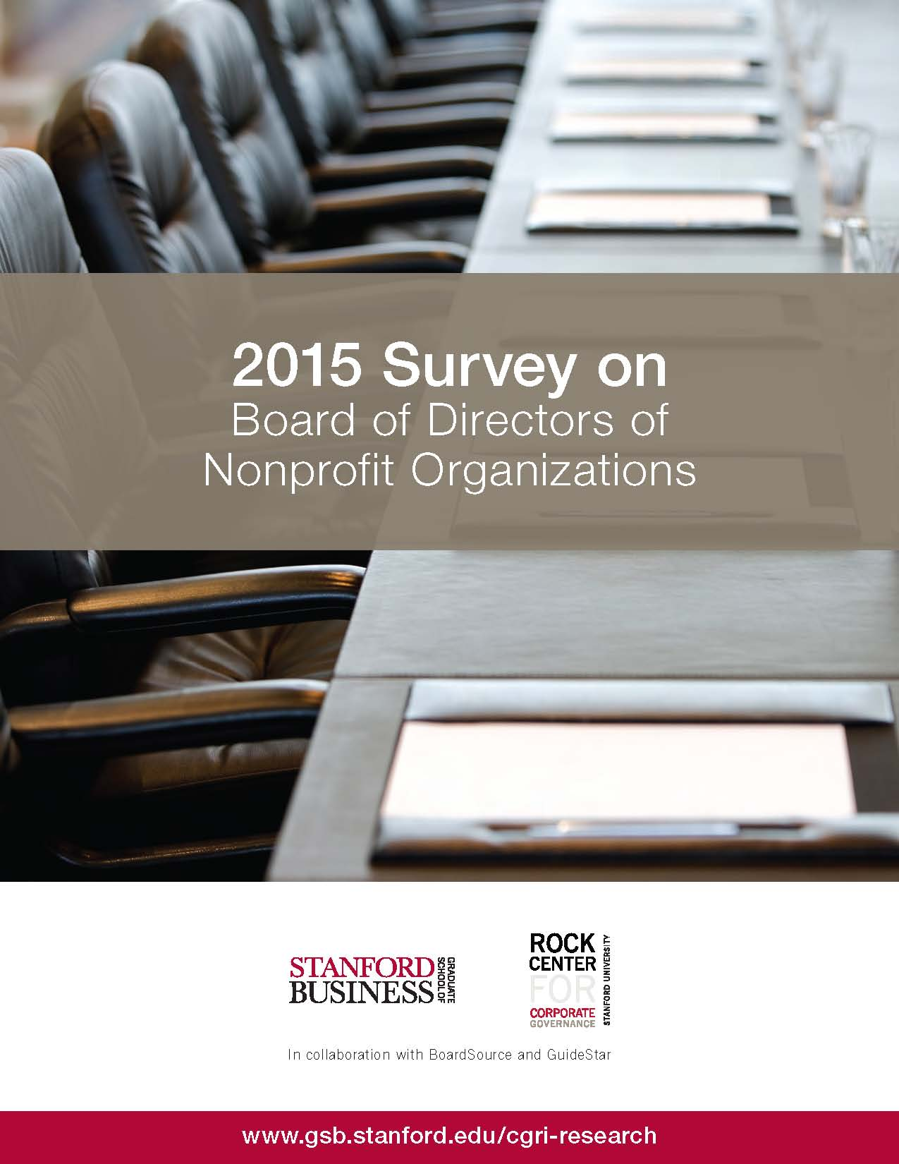 2015 Survey on Nonprofit Boards Cover