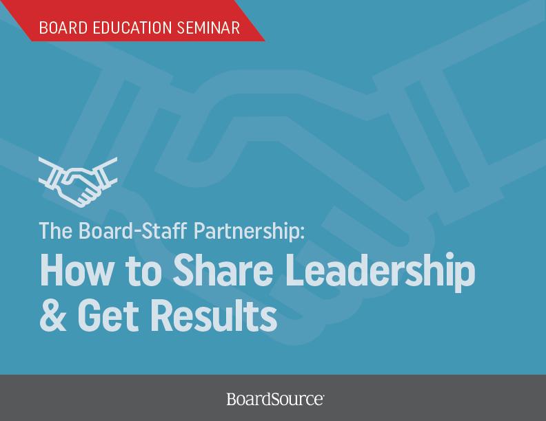 Board-Staff Partnership Seminar Cover