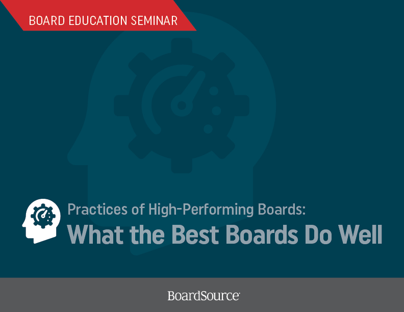 Practices of High-Performing Boards Seminar Cover