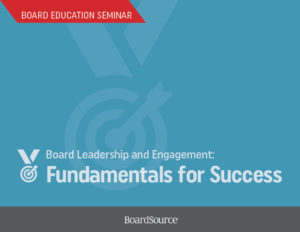 Board Leadership and Engagement Seminar Cover