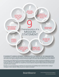 Characteristics of Mission Statements