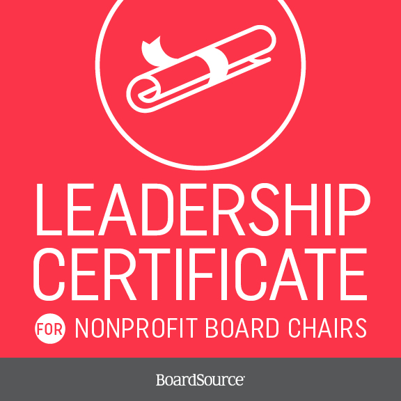 Certificate for Board Chairs