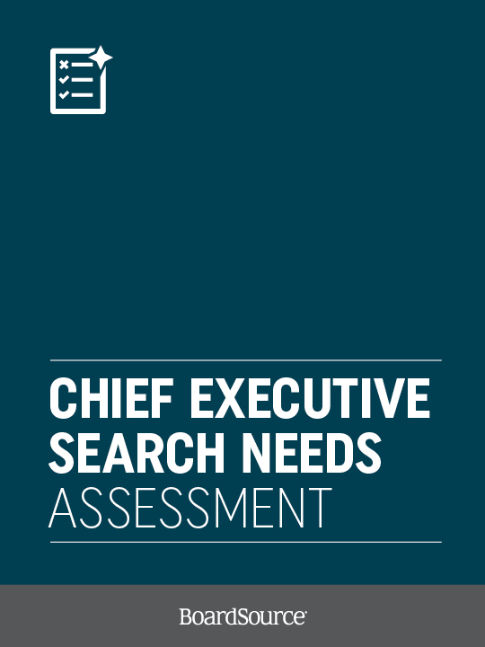 CEO Search Needs Assessment