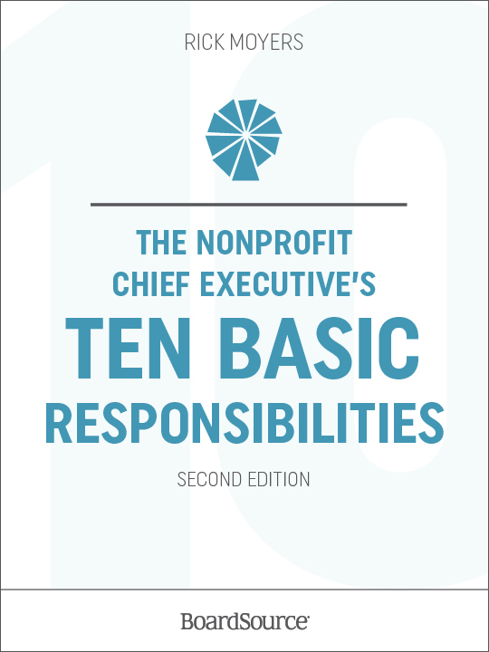 Nonprofit Chief Executive's Ten Basic Responsibilities