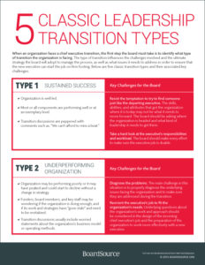 5 Leadership Transition Types