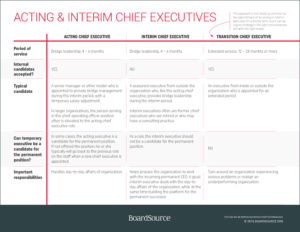 Interim Chief Executives