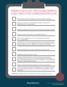 Nonprofit CEO Compensation Checklist