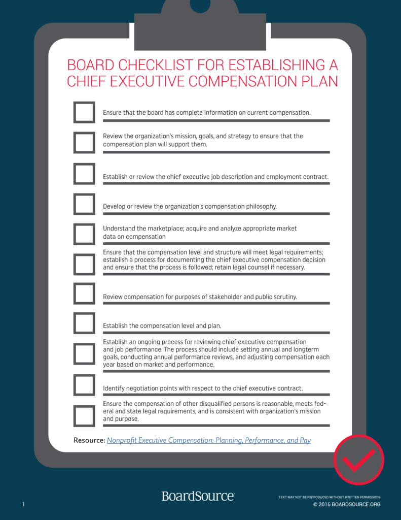 CEO Compensation Checklist