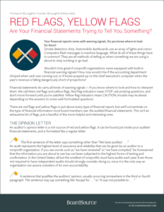 Are Your Financial Statements Trying to Tell You Something?