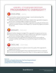 Programmatic Oversight Tool