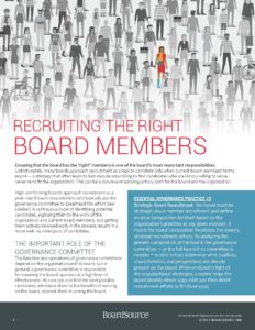 Recruiting the Right Board Members