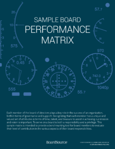 Board Performance Matrix