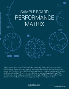 Board Performance Matrix