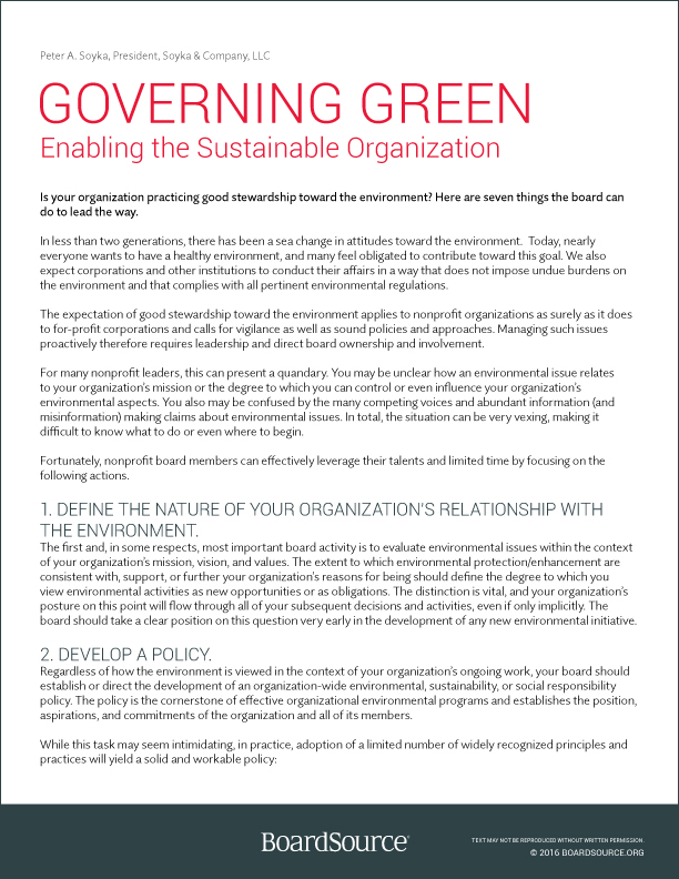 Governing Green