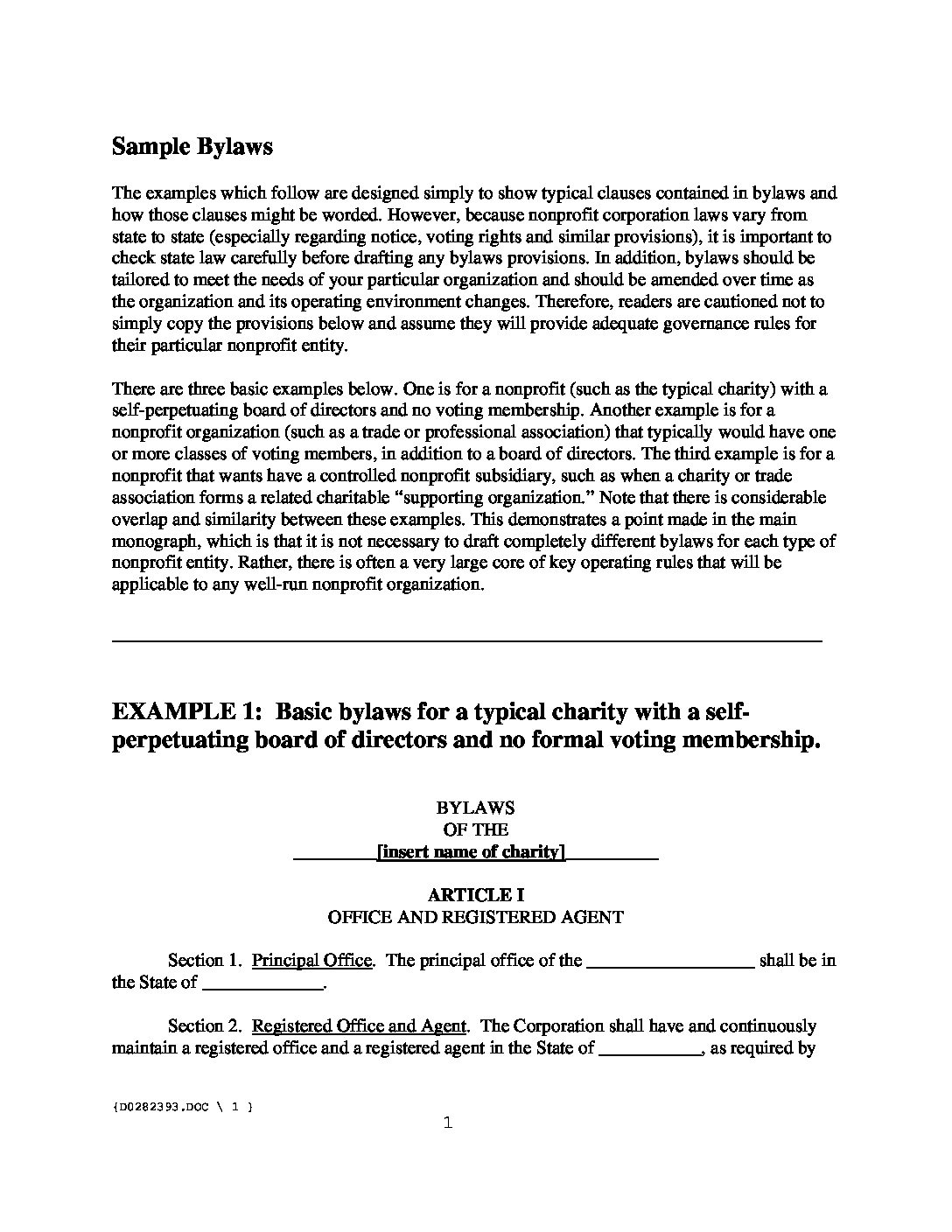 Club Bylaws Template sample fax letter – Corporate Bylaws Template Free
