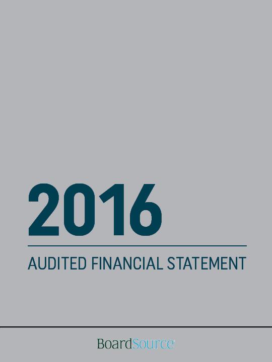 2016 Financial Statement