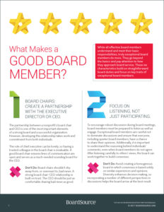 What Makes a Good Nonprofit Board Member?