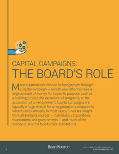 Capital Campaigns - The Board's Role