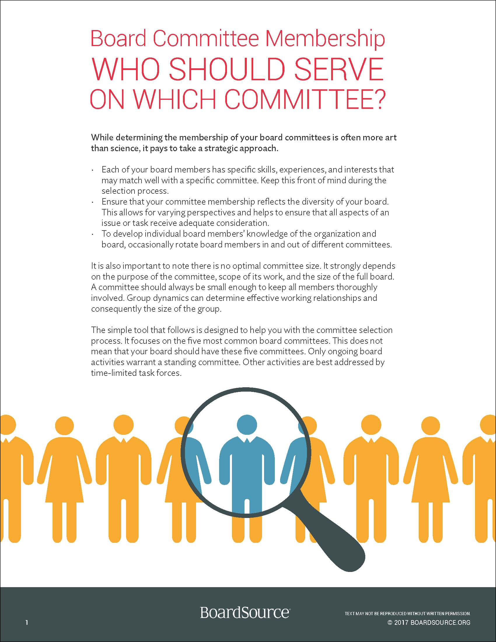 Structure committees and meetings boardsource for Non profit charter template
