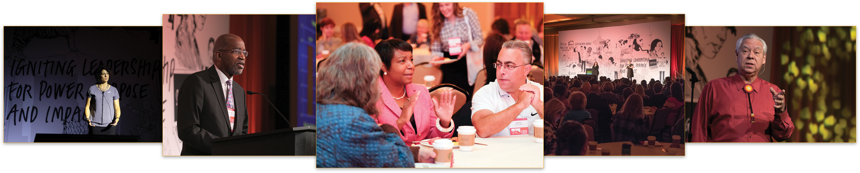 photos of conference attendees at the BoardSource Leadership Forum