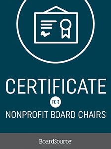 Certificate for Nonprofit Board Chairs