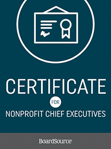 Certificate for Nonprofit Chief Executives