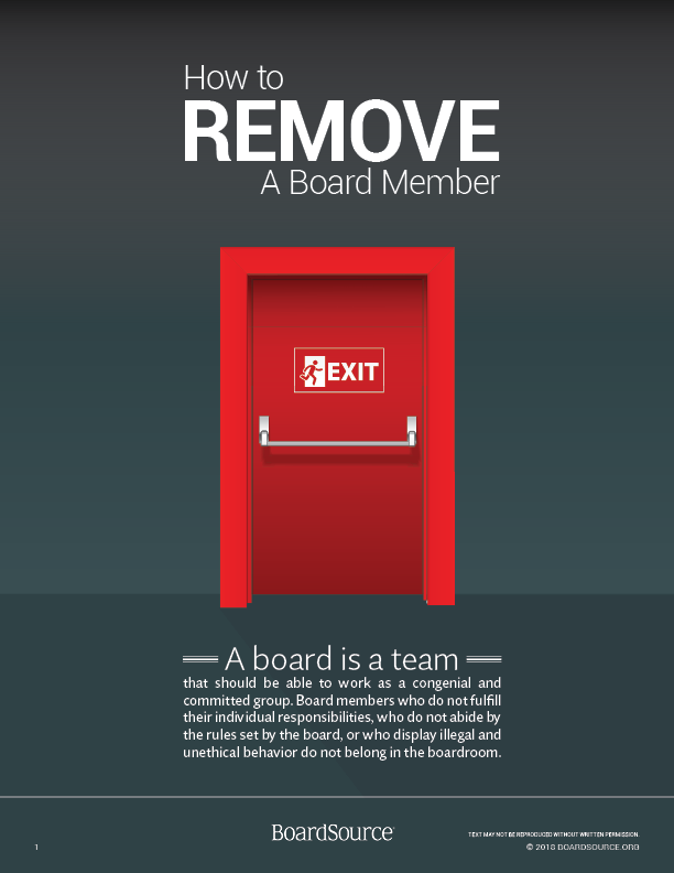 How to Remove a Board Member