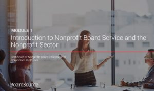 Introduction to Nonprofit Board Service