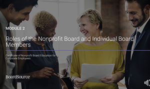 Corporate Nonprofit Board Education
