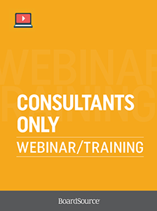 Consultants-Only Webinar/Training