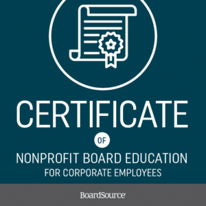 Certificate of Nonprofit Board Education for Corporate Employees