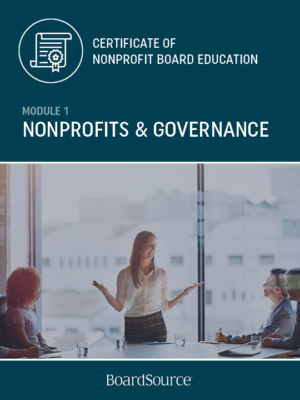 Nonprofits and Governance
