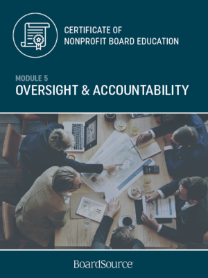 Oversight and Accountability