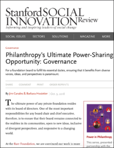 SSIR Power-Sharing article