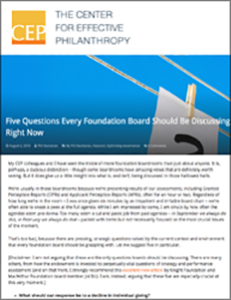 CEP Five Questions for Foundation Boards